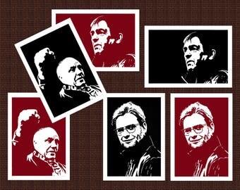 LFC card set - 6 LFC prints - Liverpool FC cards - Kenny Dalglish card - Jurgen Klopp card - Bill Shankly card - Liverpool collection cards