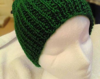 Hand Knit Green St. Patrick's Day Beanie