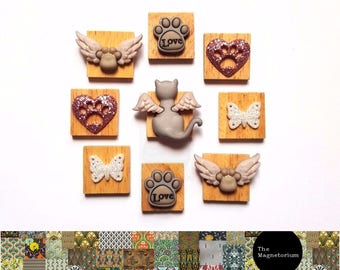 Angel Cat Fridge Magnet Set
