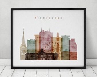 Birmingham Skyline Etsy