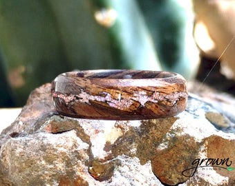 American Walnut with Rose Quartz inlay