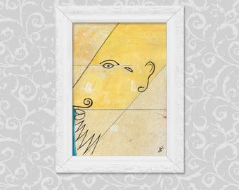 Image DIN A6 simple art painting drawing