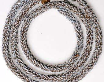 Vintage African Beaded Necklace - African Trade Beads - 28 Inch Necklaces