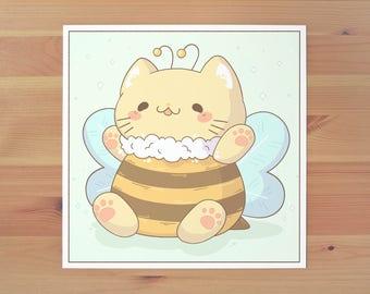 Bumblebee Kitty Print