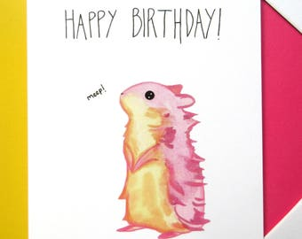 Happy Birthday Hamster Card