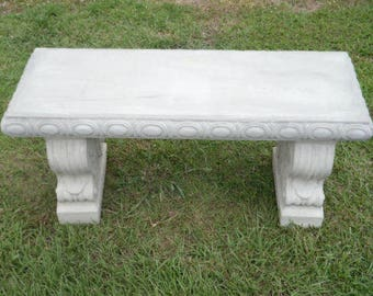Cement Bench, Straight Patio Bench, Concrete Bench Set, Outdoor Furniture,  Patio Furniture
