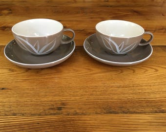 Winfield China Desert Dawn Pair of Cups and Saucers