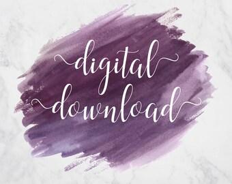 Digital Download Listing