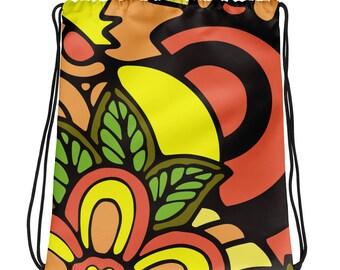 Floral - Drawstring bag
