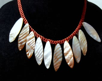 Kumihimo Braided Shell Necklace