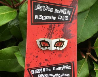 Joker Mask Enamel Pin