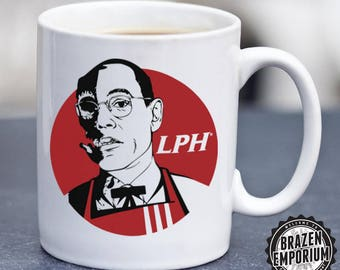 Colonel Gus Mug ©, Los Pollos Hermanos, KFC MashUp, Original Artwork, Breaking Bad, Walter White, Heisenberg, Funny Coffee - Tea Mug
