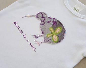 Kiwi Baby Clothes,New Zealand Kiwi, Minky Baby Jumpsuit, New Zealand souvenir, Kiwiana, Made in New Zealand, Gift. Baby Clothes
