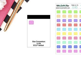 School Multicolored or Black Mini Read Book Icon Planner Stickers