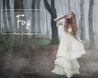 Fog Overlays, Smoke, Photoshop overlay, Realistic Fog,  Mist Overlays, Clouds Effect, 45 JPG files