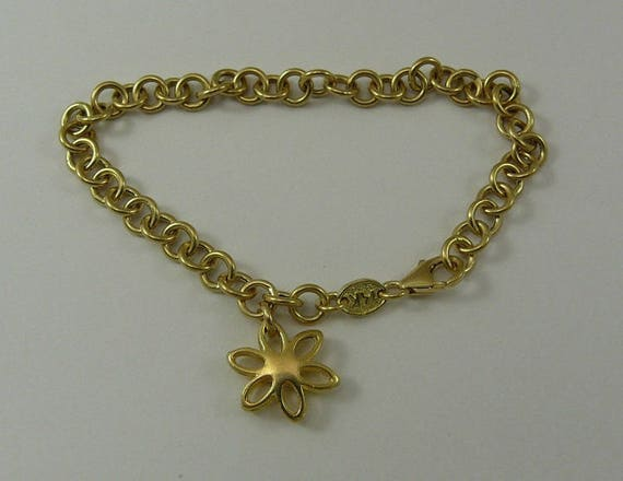 Charm Bracelet 14k Yellow Gold 7 1/2 Inches