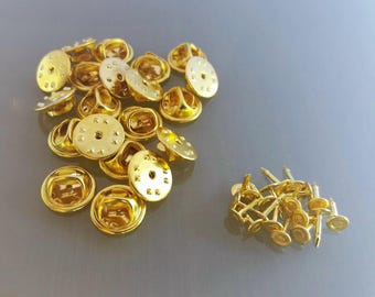 20 pins gold color metal supports
