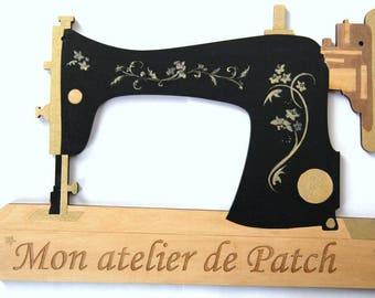"Sewing machine wooden design ""My little workshop"""