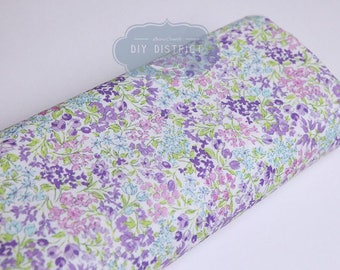 Japanese purple floral liberty fabric