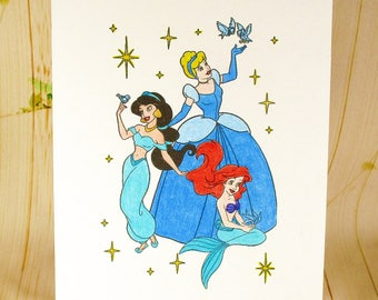 Walt Disney Princesses Card: Add a Greeting or Leave Blank