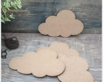 Set of 10 clouds blank height 12 cm x width 20 cm eps 6mm