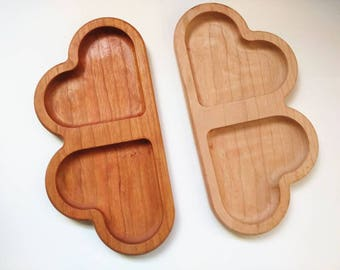 Heart breakfast board- Valentine's day gifts - toddler snack plate - Valentine's day gifts for kids - German sandwich board - divided plate
