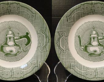 TWO Royal China The Old Curiosity Shop Saucers Set of 2 EXCELLENT!