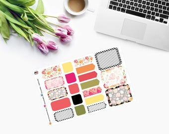 PEONY MINI Weekly Set Planner Stickers  CAM00269