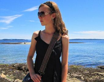 Handwoven Guitar Style-Handbag Strap, for Handbags, Messenger Bags, Gig Bags, Saddle Bags