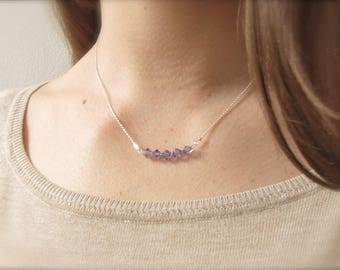 Crystal chain   Lavender   925 Silver