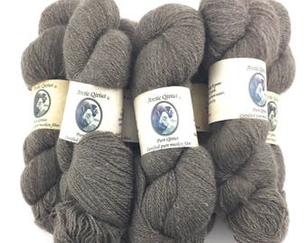 Qiviut Yarn 100% Pure Natural, 2Ply 2oz Skein Lace Weight Arctic Qiviut IN STOCK Qiviut, New Stock Pure Natural Qiviut Lace Yarn