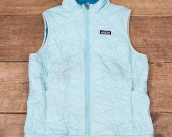 Womens Vintage Patagonia Teal Primaloft Polyester Gilet Vest Large 12 R7097