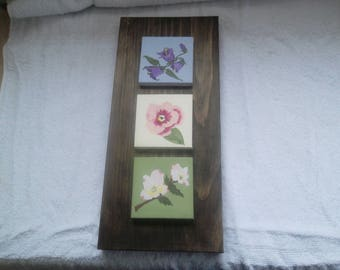 Floral Wall Hanging   Hand Painted