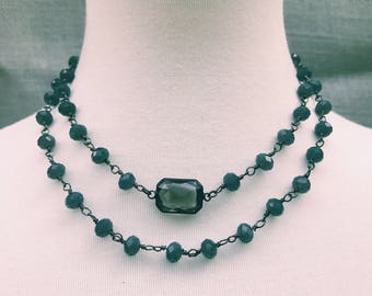 Chained layered crystal