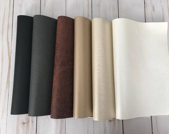 Faux leather fabric etsy for Leather sheets for crafting