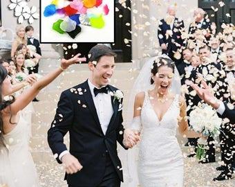 Wedding Events Decoration Confetti 500pcs 23 colors Silk Rose Petals Table Artificial Flowers Engagement Celebrations Party Supplies