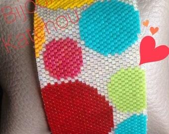 Colorful peyote cuff