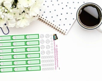 Planner Stickers| Volleyball Stickers|Volleyball Game Stickers|Volleyball Reminder Stickers|For use in various planners and journals|S019