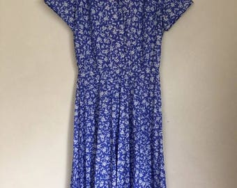 Vintage Floral 60's Tea Dress