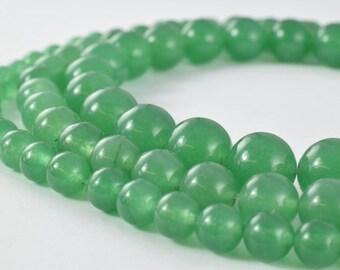 Aventurine Gemstone Round Green Beads 6mm/8mm/10mm Natural Healing Stone Chakra Stones for Jewelry Making