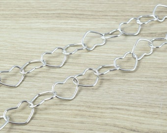"""White Gold Filled Chain 35"""" Inch CS22"""