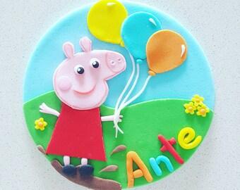 Pig Fondant Cake Topper set