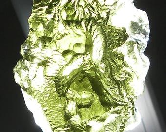 "Moldavite ""Raw"" Piece 13.54gram Mueseum grade from Czechoslovakia"