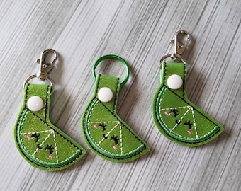 Sparkly Green Lime Keychain!