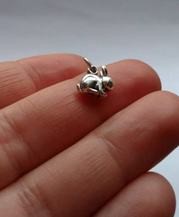 Make Your Own Charm Bracelets: Solid .925 Sterling Silver Bunny Rabbit Charm Rabbits