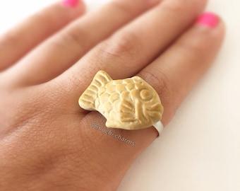 Polymer clay Taiyaki ring