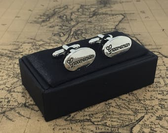 Beautiful WEDDING Cufflinks GROOMSMAN Thank You Gift Gents Gift Boxed Cuff Links Great Present Grooms Man