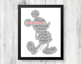Disney words | Etsy
