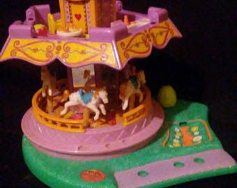 Vintage 1990's POLLY POCKET Spin Pretty Carousel!!! Nice Find!!No dolls