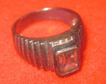 P-13  Vintage 925  silver ring size  7 1/4